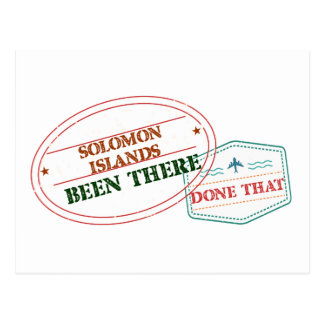 Solomon Islands Been There Done That Postcard