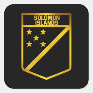 Solomon Islands Emblem Square Sticker
