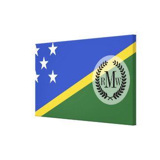 Solomon Islands flag Canvas Print