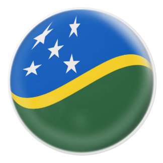 Solomon Islands Flag Ceramic Knob