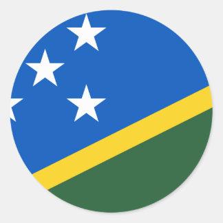 Solomon Islands Flag Classic Round Sticker