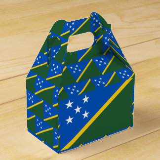 Solomon Islands Flag Favor Box