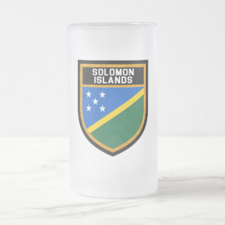 Solomon Islands Flag Frosted Glass Beer Mug