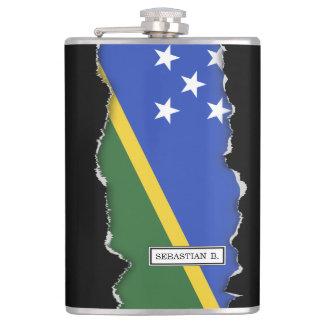 Solomon Islands flag Hip Flask
