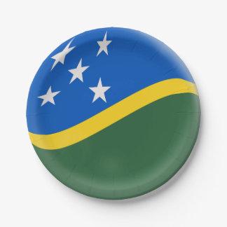 Solomon Islands Flag Paper Plate
