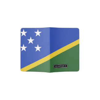Solomon Islands flag Passport Holder