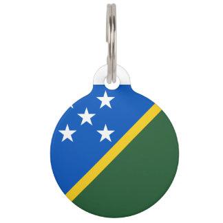 Solomon Islands Flag Pet ID Tag