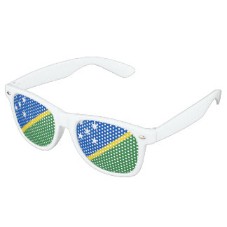 Solomon Islands Flag Retro Sunglasses