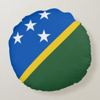 Solomon Islands Flag Round Pillow