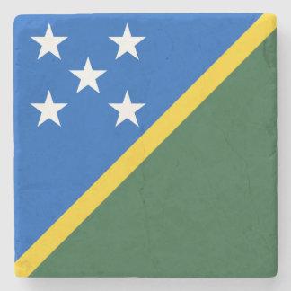 Solomon Islands Flag Stone Beverage Coaster