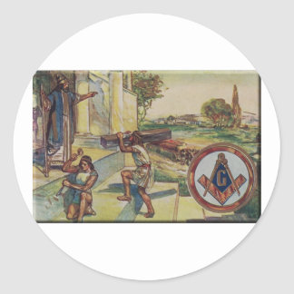 solomontemplemason classic round sticker