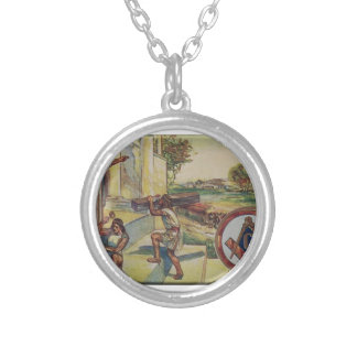 solomontemplemason silver plated necklace