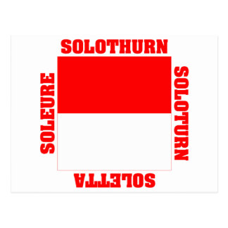 Solothurn Switzerland Canton Flag Post Cards