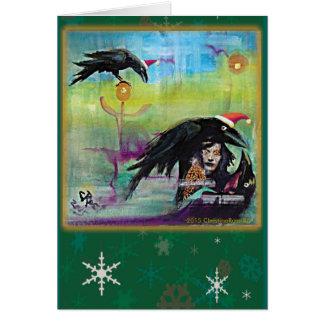 Solstice Ravens Card