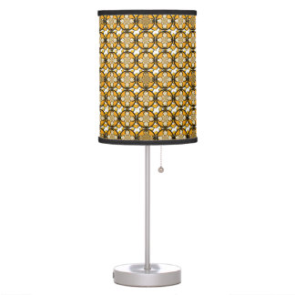 Solstice Silver Retro Lamp: Sun, Gold/Black/White Table Lamps
