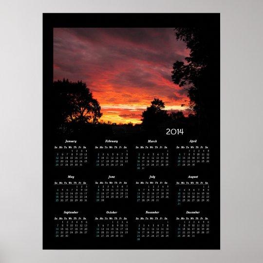 Solstice Sunset calendar ~ print