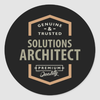 Solutions Architect Classic Round Sticker