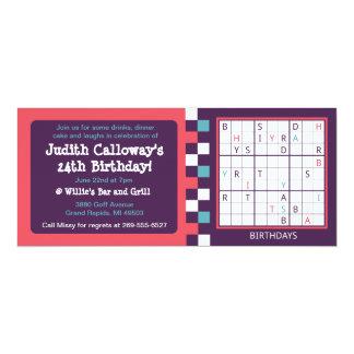 Solvable Sudoku Birthday Invitation