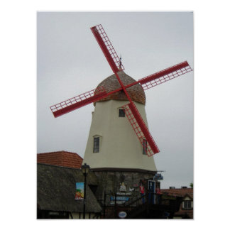 Solvang Windmill Poster