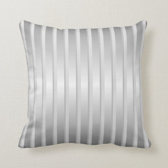 Solver grey stripe throw pillow