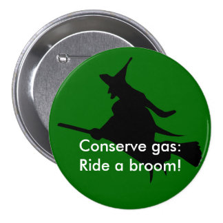 Solving the energy and oil/gas crisis 3 inch round button