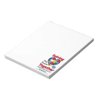 Solving the Puzzle - Autism Awareness Notepad