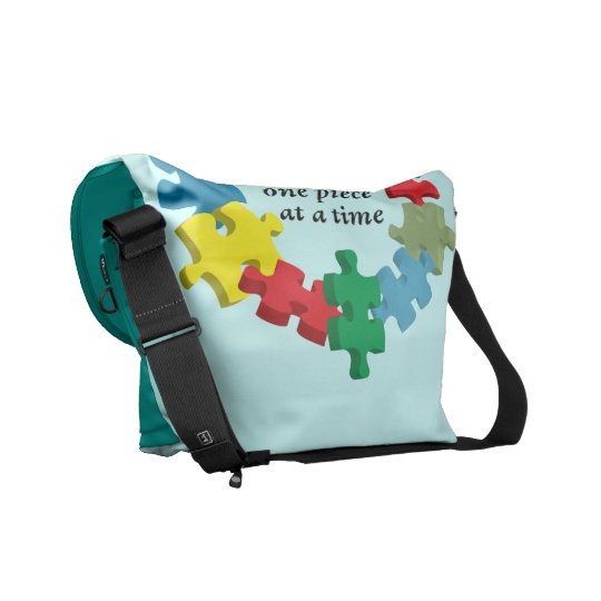 Solving the Puzzle...Messenger Bag Lt. Blue Commuter Bag
