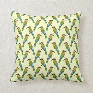 Somali Bee-eater Tropical Bird Pattern Throw Pillow