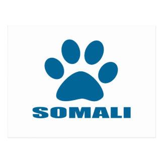 SOMALI CAT DESIGNS POSTCARD