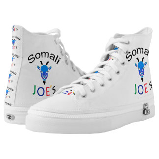 Somali Joe's Billy Blue Goat Custom High Tops