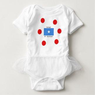 Somali Language And Somalia Flag Design Baby Bodysuit
