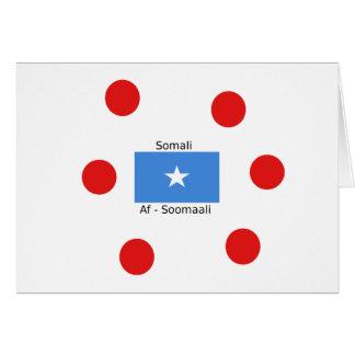 Somali Language And Somalia Flag Design Card