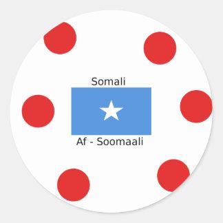 Somali Language And Somalia Flag Design Classic Round Sticker