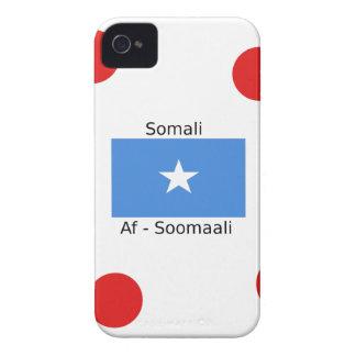Somali Language And Somalia Flag Design iPhone 4 Case-Mate Cases