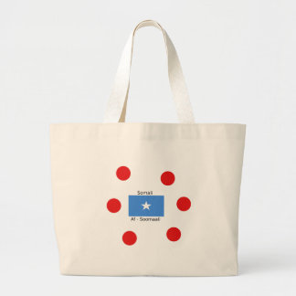 Somali Language And Somalia Flag Design Large Tote Bag