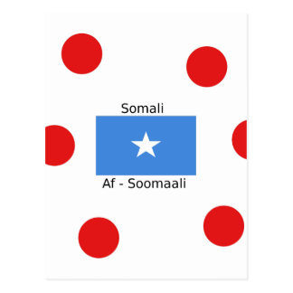 Somali Language And Somalia Flag Design Postcard