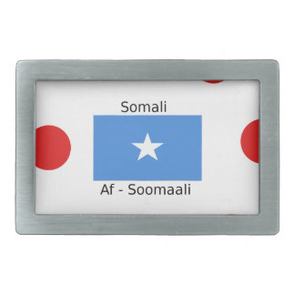 Somali Language And Somalia Flag Design Rectangular Belt Buckles