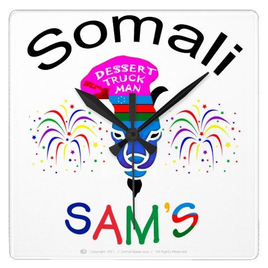 Somali Sam,  Dessert Truck Man, Custom Wall Clock