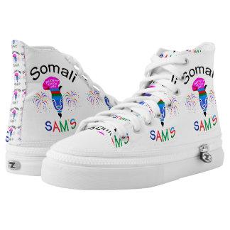 Somali Sam's Custom High-Top Shoes