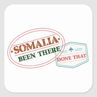 Somalia Been There Done That Square Sticker