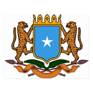 Somalia coat of arms postcard