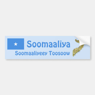 Somalia Flag + Map Bumper Sticker