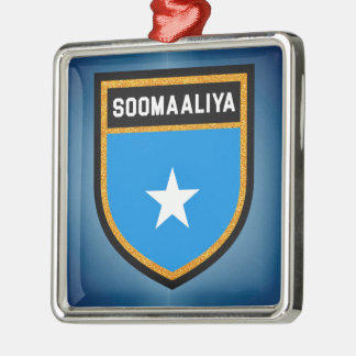 Somalia Flag Metal Ornament