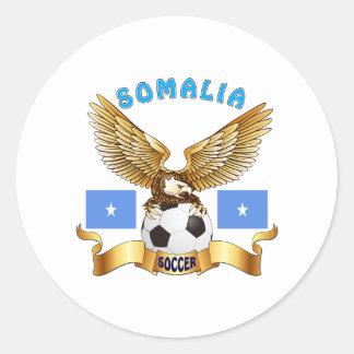 Somalia Football Designs Classic Round Sticker
