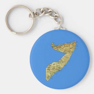 Somalia Map Keychain