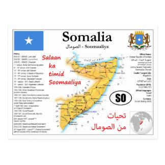 Somalia Map Postcard