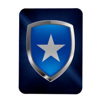 Somalia Metallic Emblem Rectangular Photo Magnet