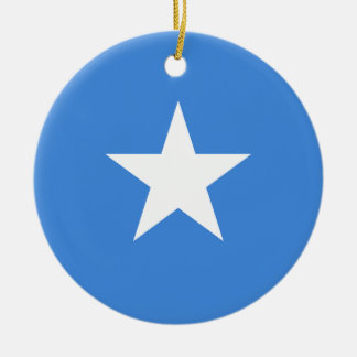 Somalia National World Flag Ceramic Ornament