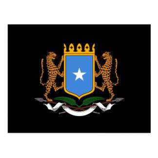 Somalian coat of arms postcard