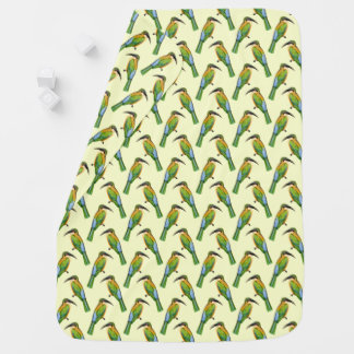 Somaliland Bee-Eater African Bird Vintage Pattern Baby Blanket